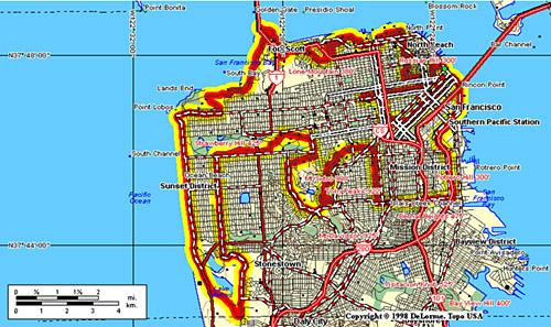 San Francisco 49-mile Scenic Drive Map